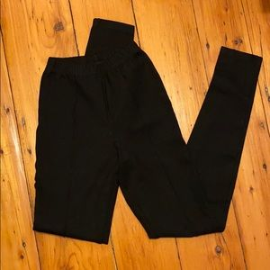 American apparel leggings with piping.